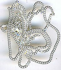 """36"""" Sterling Silver Diamond Cut Curb Chain approximately 36"""" (915mm)"""