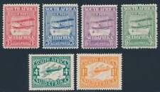 Südafrika Nr. 17-20 + 43-44 ungebraucht / *, Flugpostmarken (47099)