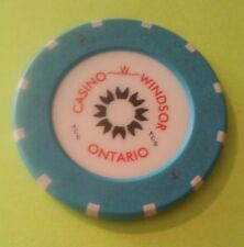 CASINO WINDSOR ONTARIO, CANADA SUN LOGO BLUE ROULETTE GAMING CHIP HARD TO FIND!