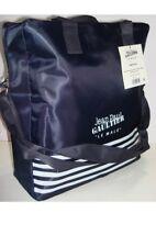 """Jean Paul Gaultier """"Le Male"""" Weekend Bag Navy Blue Stripe Duffle Overnight"""