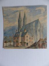 Wiesenkirche Soest Westfalen Sankt Maria Pfarrhaus Aquarell um 1850