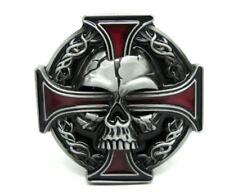 Punk Iron Evil Devil Demon Skull Goth Cross Tatto belt Buckle