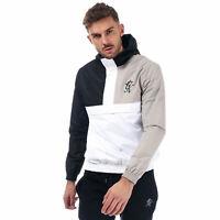 Mens Gym King Guttermouth Windbreaker In Black Grey White
