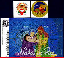 3228-30 BRAZIL 2012 CHRISTMAS, BOX WITH GIFTS, CHORAL, HOLY FAMILY, SET MNH