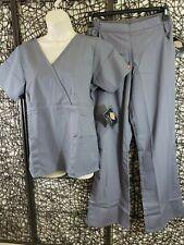 Nwt Dickies 2 Piece Scrub Set Pants Shirt Size S Gray Medical Dental Health