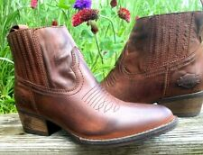 Harley-Davidson® Women's Size 6 M Curwood Short Brown Fashion Boots #84314
