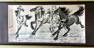 Chinese Painting - 6 Horses (in the style of Xu Beihong)