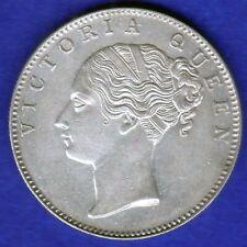 BRITISH INDIA-1840-CONTINUES LEGEND-ONE RUPEE-VICTORIA- NEAR UNC SILVER COIN-3