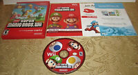 New Super Mario Bros. Nintendo Wii System Game Complete + Manual + Inserts NES