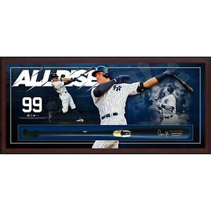 Aaron Judge New York Yankees Framed Autographed Bat Collage Shadowbox
