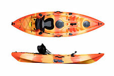 SIT ON TOP KAYAK GALAXY CRUZ NEW MODEL WITH FREE TROLLEY - FLAME