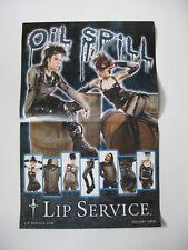 *Lip Service Classic Dagger Logo Oil Spill 2 Side Catalog Poster Holiday '09