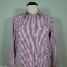 LAUREN RALPH LAUREN Women's Striped Button Front Shirt, size L