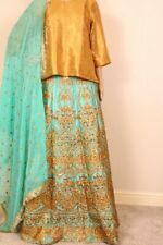 Khaadi Maria B Agha Noor Inspired formal party wear Mehndi skirt lehnga Choli