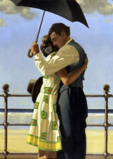 Jack Vettriano. ' Embracing ' Fine Canvas. Offered for Sale from UK.