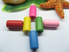 2000 Bulk Tube Wood Beads Mixed Color 5mm X 8mm