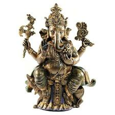 "GANESHA STATUE 8"" Cold Cast Resin GOOD QUALITY Hindu Elephant God NEW Ganesh"