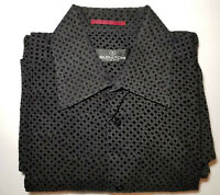 Bugatchi Uomo Black Shirt Size L Medium Men's Long Sleeved Collared Casual LS