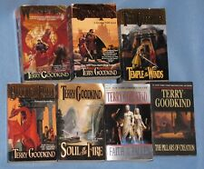 Terry Goodkind SWORD OF TRUTH Lot: 7 pb - WIZARD'S RULE to PILLARS OF CREATION