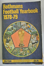 Book. Rothmans Football Yearbook  1978/79. 9th Year. Paperback.