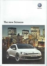 Volkswagen Scirocco UK Market Brochure May 2008 Fold Out Poster includes GT
