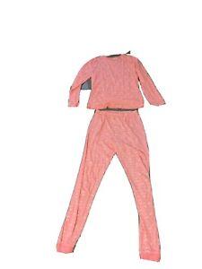 Girls Pink Pjs Pyjamas Age 13-14 years