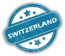 Switzerland Grunge Stamp Car Bumper Sticker Decal 5'' x 4''