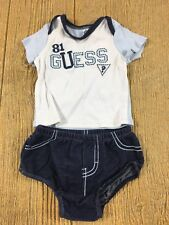 Guess Jeans Baby Size 3-6 Months One Piece Body Suit Dipaer Cover Outfit Set