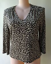 Stitches Australia Long sleeves plus size 18 black print top stretch