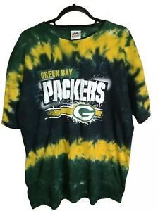Green Bay Packers Tie Dye Mens Size XL Majestic