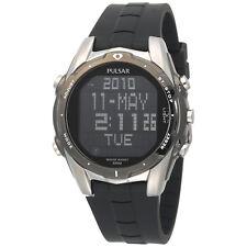 Pulsar PQ2003 Digital Mens World Time Alarm Chronograph Black Dial Quartz Watch