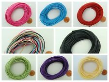 10 mètres Fil polyester ciré 1mm pour création bijoux cordon couleur au choix