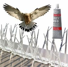 Parkland Plastic Polycarbonate Bird Spikes Kit W/ Adhesive Glue, Covers 10 feet