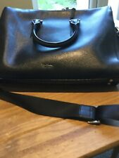 Paul Smith Embossed Black Leather Slim Business Folio/Briefcase/Messenger Bag