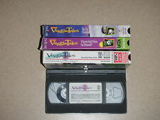 Veggie Tales Lot Of 4 VHS Movies Christmas - Forgive - Scared - Giant Pickle