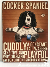 20cm metal vintage style Cocker Spaniel lover breed character hang sign plaque