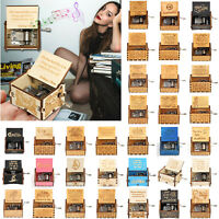 Harry Potter Music Box Engraved Wooden Music Box Interesting Kid Toys Xmas Gift