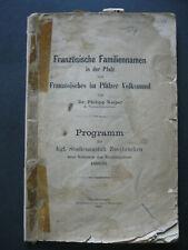 Französische Familiennamen Pfalz & Französisches im Pfälzer Volksmund Dr. Keiper