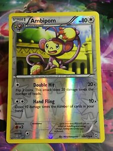 Pokemon Card TCG Ambipom HOLO RARE Reverse Black And White Dragons Exalted