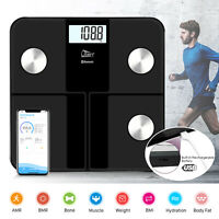 Bluetooth 4.0 Smart Digital Bathroom Scale 6 Color LCD BMI Body Fat Weight Scale
