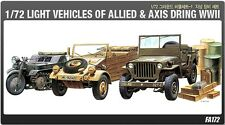 Academy 1/72 Plastic Model Kits Light Vehicles of Allied&Axis During WWII 13416