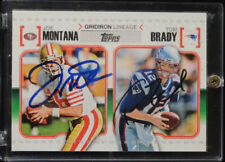 2010 TOM BRADY - JOE MONTANA AUTHENTIC AUTOGRAPHED CARD with Certificate