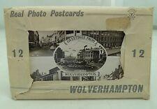 12 x UNUSED WOLVERHAMPTON VINTAGE REAL PHOTO POSTCARD SET c.1950s BLACK COUNTRY
