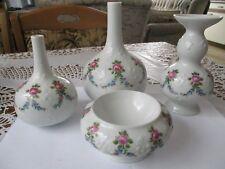 Porzellan Set Vasen u Schale 4 teilig