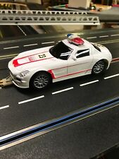 Mercedes Style Police Car- 124 Scale- Slot Car With Headlights