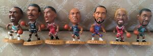 Vintage 1990's LOT-7 NBA Headliners Basketball Corinthian Figures Pippen Malone