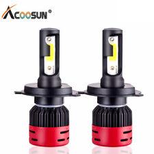 2PCS COB H4 HB2 9003 72W 8000LM LED Headlights Kit Hi/Lo Power Bulbs 4300K