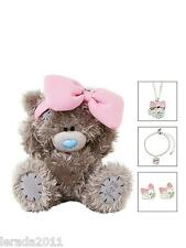 Peluche Oso y Joyería Collar Pulsera Conjunto Pendientes con Pasador G01G0321 Tatty Teddy