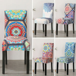 Boho Dining Chair Covers Spandex Cover Stretch Washable Wedding Banquet Party AU