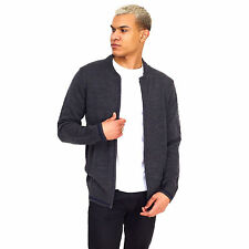 Brave Soul Mens Cardigan VANCEB Zip Through Long Sleeved Baseball Top Jacket New